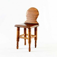 Scaun miniatura lemn natural  H 8.5cm