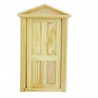Usa lemn functionala pentru doll house 1/12