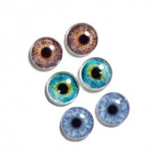 Ochi iris sticla 12mm 6buc
