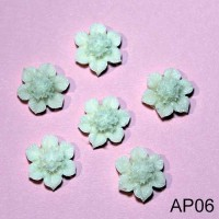 Flori rasina 18mm alb-crem 6buc