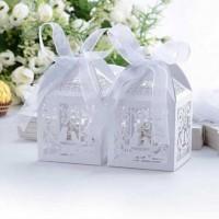 Cutie ALBA marturii nunta 10buc