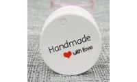"Etichete rotunde ""Handmade with love"" 50 buc"