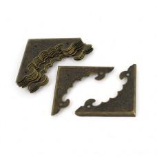 Protectie colt 40mm bronz 10 buc + cuie