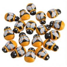 Set 10 albinute lemn cu baza adeziva