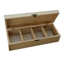 Cutie din lemnn cu 4 compartimente 25 x 9.5 x 6.7 cm