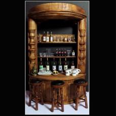 Bar lemn cu 3 scaune
