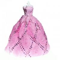 Rochie de gala pentru papusi barbie