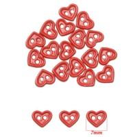 Nasturi metal 7 mm pentru papusi Inimioare