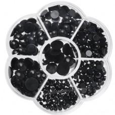 Set 500 ochi plastic negru