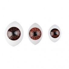 Ochi plastic 10X13mm  10 buc Albastrii