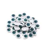 Ochi plastic 10X16mm  6 buc. ALBASTRII