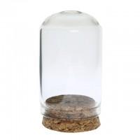 Mini dom  sticla pentru miniaturi 3x6cm