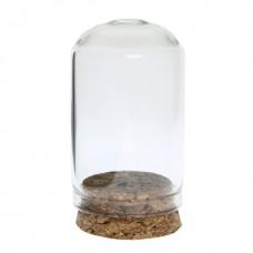 Mini dom  sticla pentru miniaturi 3x5cm