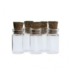 borcan sticla cu capac din pluta H=2.1cm
