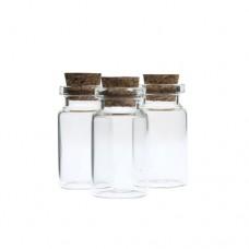 borcan sticla cu capac din pluta H=4cm