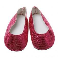 Pantofi luciosi 7cm pe ROSU