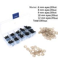 Set 100 buc ochi plastic 6-12mm