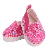 Pantofi cu sclipici 5.5 cm Rosu trandafir