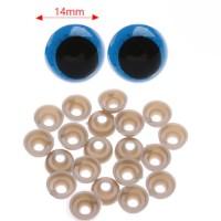 Ochi plastic ALBASTRII 14mm 20buc+capace