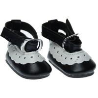 Mini pantofei 5cm negru cu alb