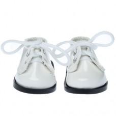 Pantofi 5.5cm pe ALB cu siret
