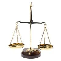 Balanta din alama cu greutati
