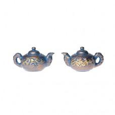 Ceainic miniatural oriental auriu