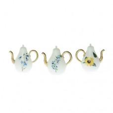 Ceainic miniatural cu design floral