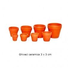 Ghiveci ceramica 3 x 3 cm