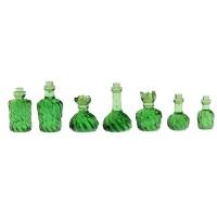 Set 7 sticlute decorative pentru case de papusi