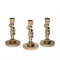 Sfesnic miniatural ingeras  auriu  H 4cm