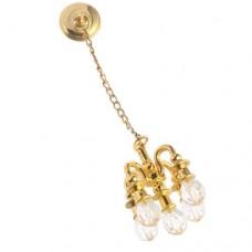 Candelabru auriu pentru casa de papusi