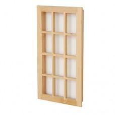 Geam fereastra din lemn pentru case de papusi