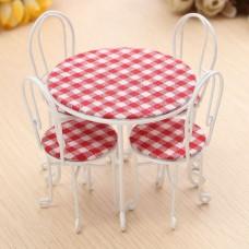 Set 4 scaune cu masa dollhouse