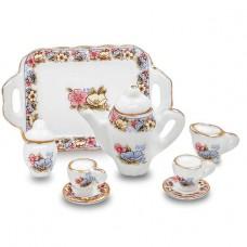 Set ceainic  cu tava din portelan