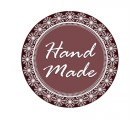 Etichete autocolante HandMade vintage model dantela