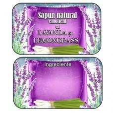 Etichete autocolante  Sapunuri Lavanda Lemongrass