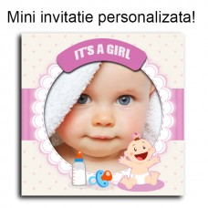 Mini Invitatie BOTEZ Personalizate