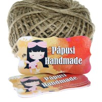 """Etichete """"Papusi Handmade"""" 20 buc"""