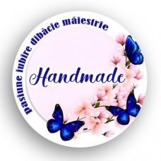Etichete adezive Handmade Flori Fluturi 35bc