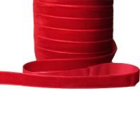 Panglica Catifea 1cm ROSU