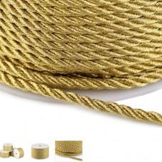 Snur auriu rasucit din lurex 2.5mm 20m