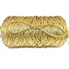Snur impletit cu fir metalic auriu, grosime 4 mm 1m