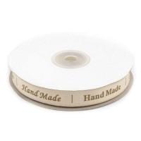 Rola 25m Panglica Handmade bumbac  15mm