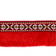 Bandă cu franjuri 3.5cm latime motiv indian