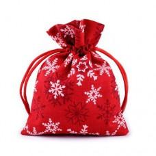 Săculeț cadouri 10x13 cm Craciun