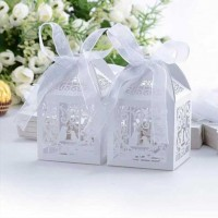 Cutie ALBA marturii nunta 1buc