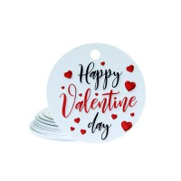 Etichete carton Happy Valentine Day 4cm