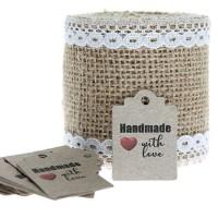 Etichete carton natur Handmade  50bc