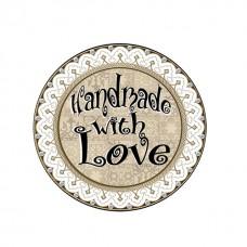 Etichete autoadezive  Handmade with love 96buc